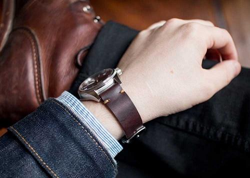 Đặt làm dây da đồng hồ Handmade da thật