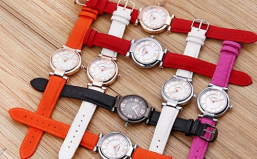 Dây da đồng hồ đủ màu sắc