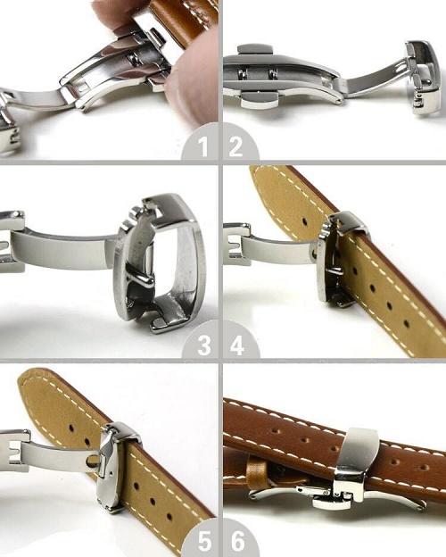 Cách lắp chốt cho quai da đồng hồ