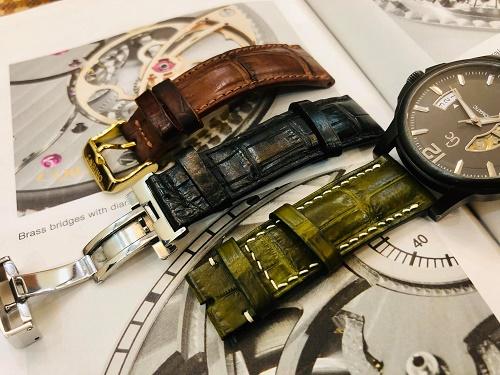 dây đồng hồ da cá sấu của tavos