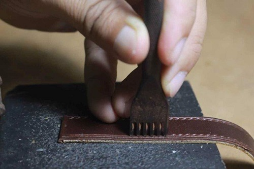 sản xuất dây da đồng hồ handmade