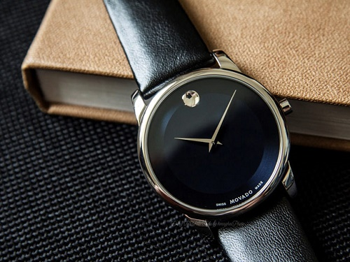 đồng hồ movado da bò