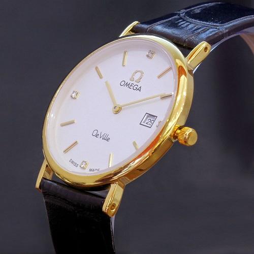 đồng hồ omega nữ dây da cá sấu