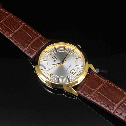 đồng hồ omega dây da cá sấu