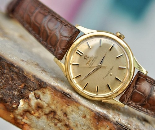 đồng hồ omega nữ dây da