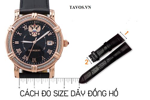 đo size dây đồng hồ